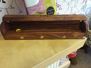 Wooden Incense Box Holder