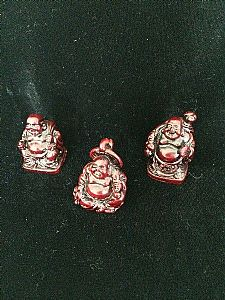 Miniature Red Lucky Buddha Ornament
